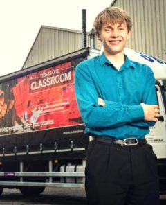 Young Entrepreneur Dragons' Den Ed Holland