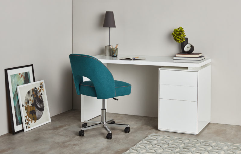 Lloyd Office Chair Mineral Blue and Marl Grey