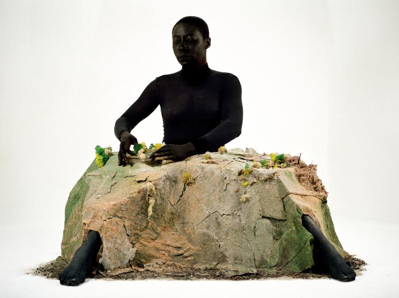 Otobong Nkanga Alterscapes : Playground (A) 2005-2015 c -print monté sur aluminium 50 x 67 cm ( 54 x 71 x 4 cm encadré ) Edition 5/7 ex + 1 AP Courtesy de l'artiste et galerie In Situ - Fabienne leclerc, Paris © Otobong Nkanga